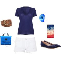 """""""Summer Outfit Ideas - Blue"""" by dsstyles on Polyvore www.Dsstyles.com"""