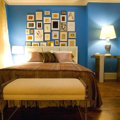 Dream bedroom ideas on pinterest 805 pins for Electric blue bedroom ideas