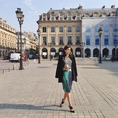 @Stylescrapbook at PFW in her HEATH Pumps and CANDY Bag