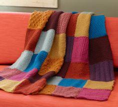 Free Crochet Pattern L0604 Tunisian Throw : Lion Brand Yarn Company
