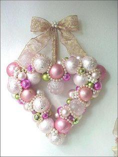 beautiful Heart Christmas Wreath