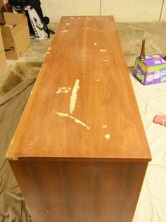 """how to stain and paint veneer furniture """"the right way"""" by willscasa project, painting veneer furniture, crafti, how to stain veneer, stains, paints, paint veneer furniture"""