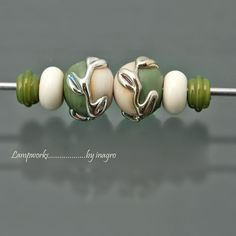 LOVE, LOVE, LOVE! cuamba n.7 set of 6 pcs handmade lampwork beads by inagro at Etsy, $8.50