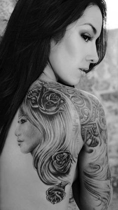 tattoo | back, arms