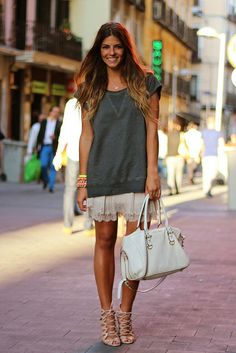 bees, style inspir, skirts, lace everyplac, white lace, fashion bloggers, fashion inspir, daili style