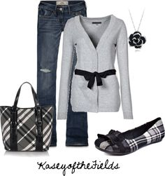 """Bows and Plaid"" by kaseyofthefields on Polyvore"