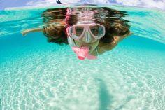 Snorkleling in clear water