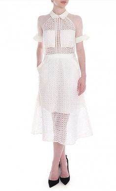 Pattern Play Lace Midi Dress