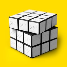 Rubiks Cube for blind People by Konstantin Datz, via Behance