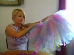 How to make a no-sew ribbon-tie tutu! @Rachel Horn, Zombie pub crawl!