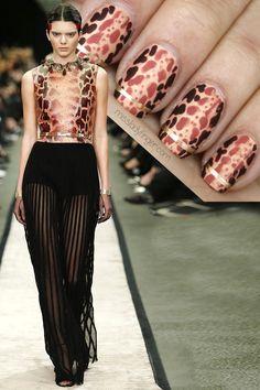 Givenchy Fall '14 #nail #nails #nailart