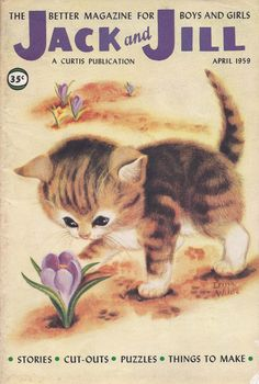 Jack and Jill magazine cover kitten