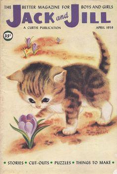 Jack and Jill magazine cover kitten