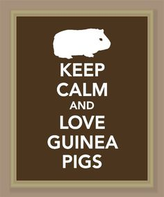 Keep Calm and Love Guinea Pigs Print Buy two by printssocharming