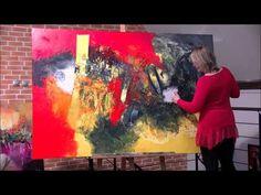Démonstration de peinture abstraite par Jadis 6 - YouTube