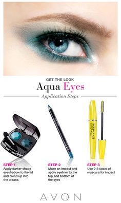 Get the Aqua Eyes look with these Avon eye products!