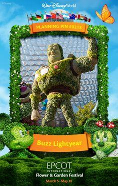 Walt Disney World Planning Pins: Buzz Lightyear Topiary