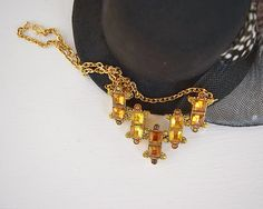Around Wire and Beads: Golden Bohemian Necklace - Reusing and Repairing Jewelry