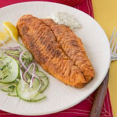 Cornmeal-Crusted Fish Fillets recipe (this meal can be on the table in just 25 minutes!)