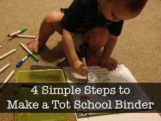 tot school, school notebook, school binder, kid