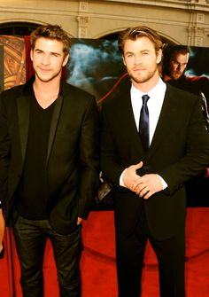 Liam and Chris Hemsworth... didnt think it was possible but could chris be even hotter than liam? geeze.
