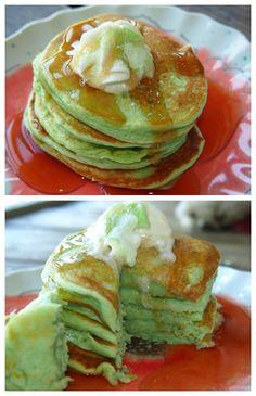 Healthy Pistachio Almond Pancakes!