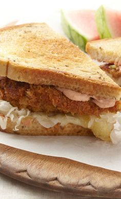 Rubbed Chicken Reuben Sandwiches.  See recipe here: http://www.fosterfarms.com/cookingcontest/Recipe2012_1.aspx #Take75