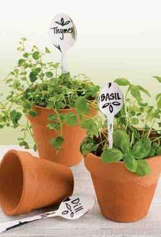DIY Herb Garden markers. | easy garden decor for summer