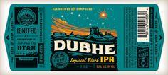 Dubhe IPA beer label