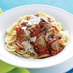Mushroom-Herb Spaghetti | MyRecipes.com