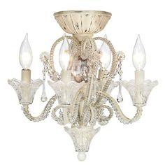 Amazon.com: Pull Chain Crystal Bead Candelabra Ceiling Fan Light Kit: Home Improvement