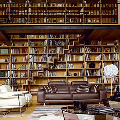 Shelving galore.Repinned by Secret Design Studio, Melbourne.  www.secretdesignstudio.com