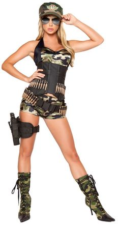 army halloween costumes for women | costumes military army costumes army babe women s deluxe costume