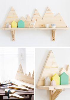 DIY Mountains Shelf