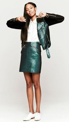 Look of the day: Opening Ceremony Moto skirt