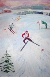 First Grade Winter Olympics Activities: Paint an Olympic Portrait