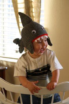 Shark Beanie by sandiegraef on Etsy, $25.00