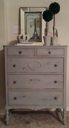 ASCP Paris Grey Antique Chest