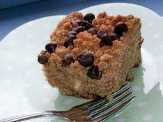 Chocolate and Peanut Butter Streusel Cake.  My step-mom made this for us ... it is so good.