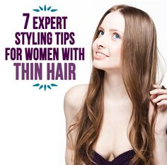 AWESOME styling tips for the thin-haired ladies!