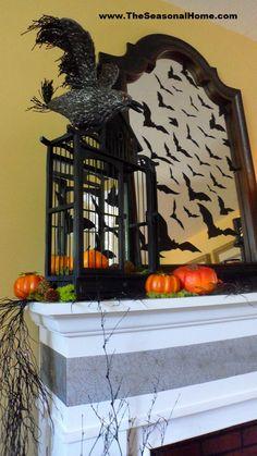 Spooky Halloween Fireplace