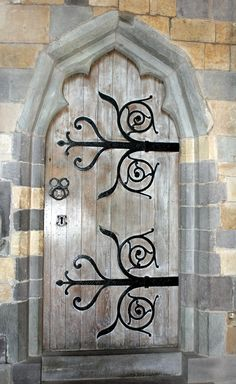 St. David's Cathedral Door in Wales ~ one of Britain's oldest cathedrals, stands on the site of a 6th-century monastery founded by Dewi (David), a Celtic Christian monk.