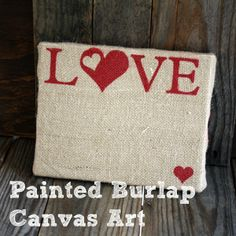 DIY canvas art. Cute for v-day or any day :)
