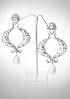 Chand bali in pearls