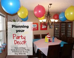 "Ideas for finding party decorations - from the series, ""31 days to an awesome party"""