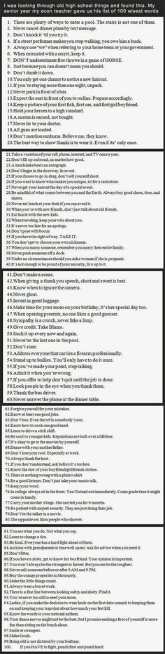 Best rules in the world