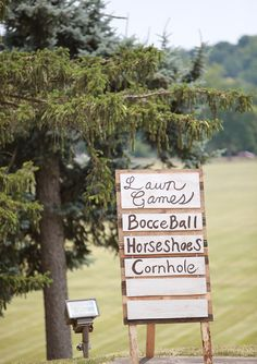 Lawn games at a wedding reception are a great idea!   100 Layer Cake
