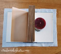 How to cover books with fabric the easy way.