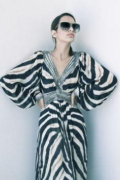 Animal-print Sequined Gown from Roberto Cavalli,( available at Splash By The Beach Limassol)