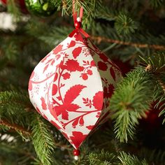 This Decorated Papier Mache Christmas Ornament is a fabulous ornament craft. Decoupage projects are easy and fun, and the results are so beautiful.
